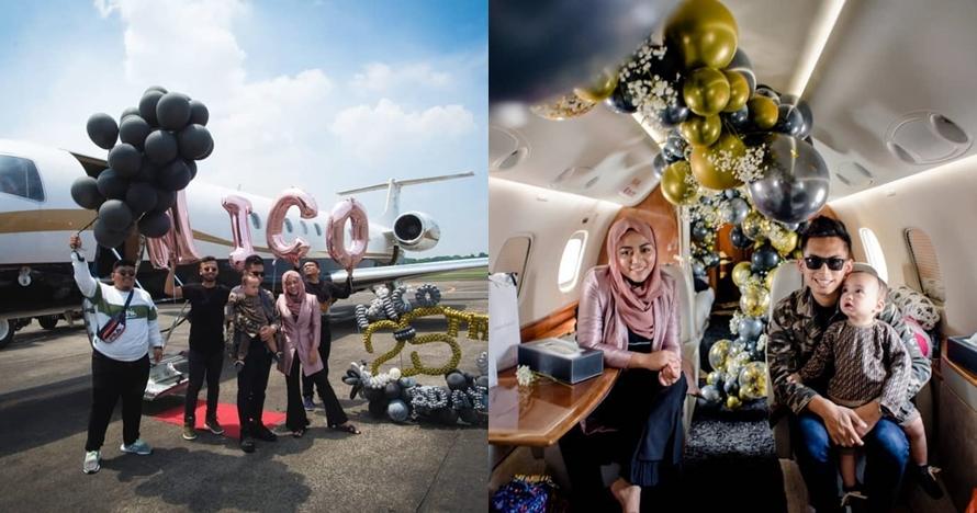 11 Momen perayaan ultah suami Rachel Vennya, sewa jet pribadi