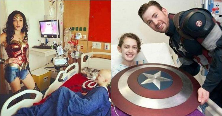 12 Momen haru pemeran superhero DC & Marvel hibur pasien anak