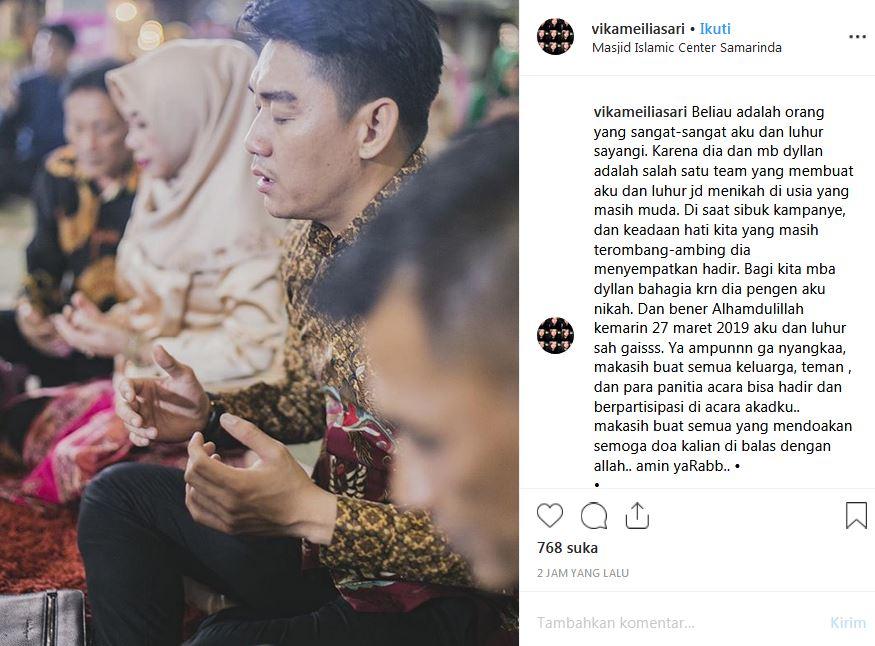 nikahan adik ifan instagram