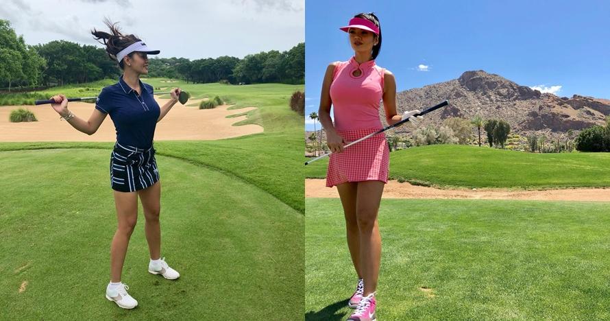 10 Potret Chef Farah Quinn saat olahraga golf, selalu memesona