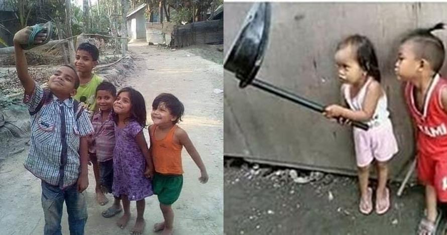 11 Foto lucu anak-anak lagi narsis, bikin susah nahan tawa