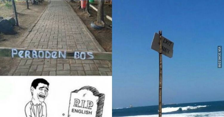 12 Tulisan bahasa Inggris di papan peringatan ini bikin tepuk jidat