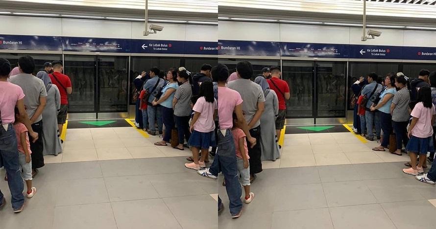 Penampakan di pantulan kaca MRT ini bikin bergidik