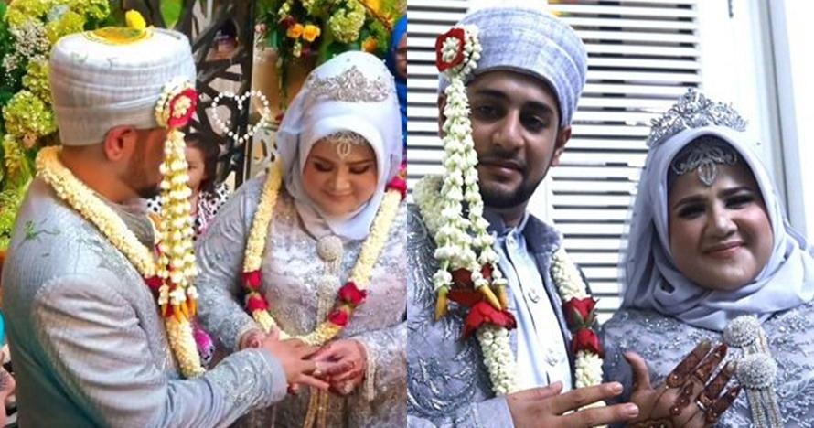 9 Momen pernikahan Dhawiya dan sang kekasih, mahar Rp 100 ribu
