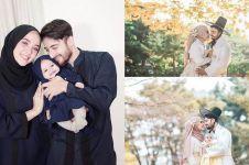 10 Potret Irvan Farhad-Hamidah ulangi honeymoon di Korea, bawa bayi