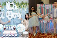 Acara baby shower 6 artis ini bernuansa biru, bisa jadi inspirasi