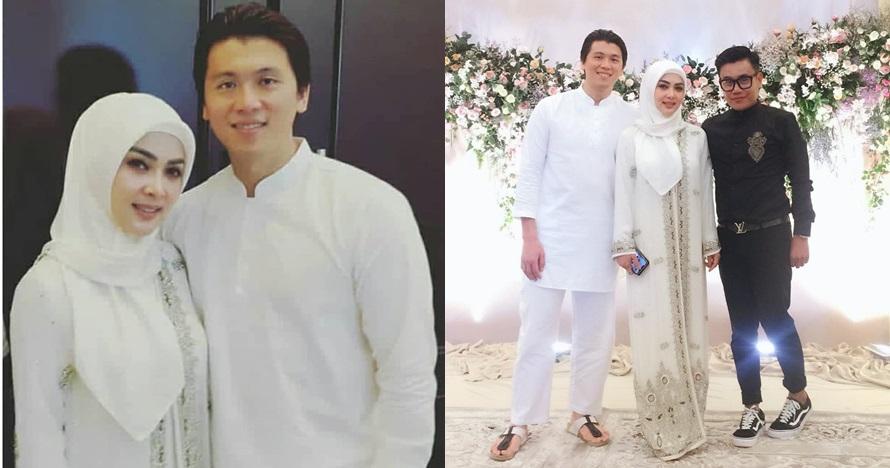 10 Potret pengajian Syahrini & Reino Barack di Bogor, serba putih