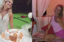 10 Potret bulan madu Laura Mesi, wanita yang nikahi diri sendiri