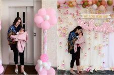 5 Potret kepulangan Momo Geisha & bayinya, ada pesta sambutan