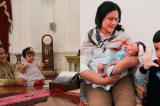 9 Potret Ibu Negara Iriana momong cucu Jan Ethes & Sedah Mirah