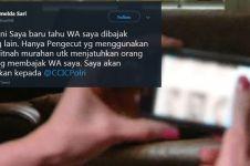WhatsApp Imelda Demokrat diretas, kirim gambar porno ke grup