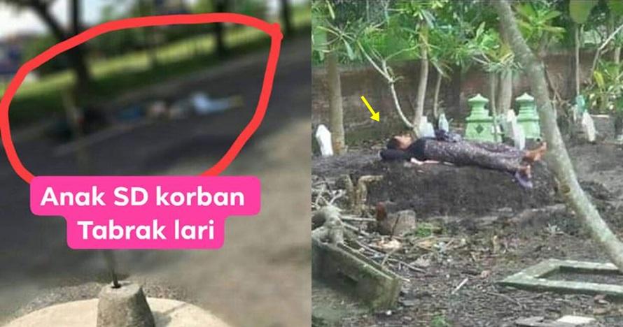 Kisah di balik foto ibu tidur di atas makam anaknya ini sedih