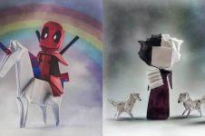 10 Tokoh film ini dibuat cuma dari kertas origami, kreatif abis