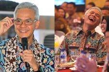 Baju batiknya mirip serbet hotel, ini reaksi lucu Ganjar Pranowo