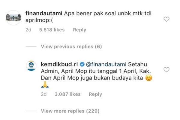 jawaban admin Kemdikbud  © 2019 brilio.net