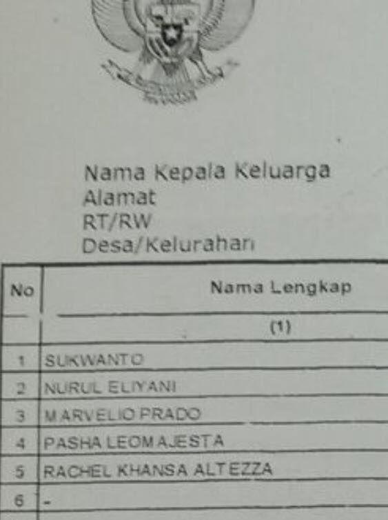nama nama di kk © 2019 berbagai sumber