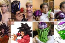 10 Cosplay tokoh Dragon Ball pakai barang low budget, kocak abis