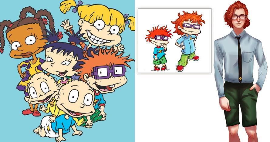 8 Ilustrasi tokoh kartun Rugrats jadi dewasa ini bikin pangling