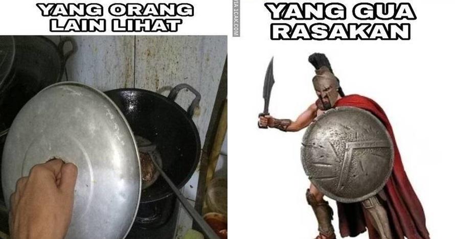 9 Meme lucu ketika cowok masak ini bikin tersenyum ngenes