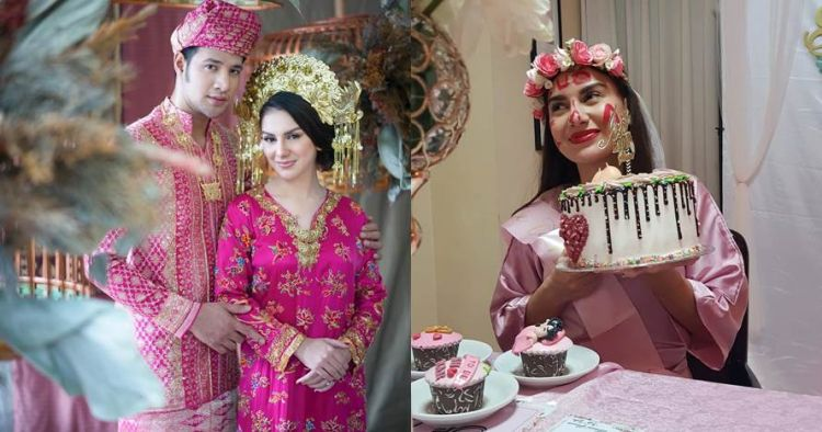 11 Potret keseruan bridal shower Irish Bella, bertema pink