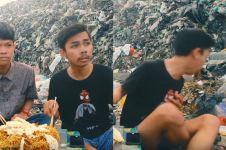 Makan di TPA sampah, aksi dua vlogger ini bikin ngakak dan mual