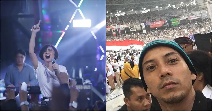 10 Aksi seleb di panggung kampanye Jokowi & Prabowo, ekspresif