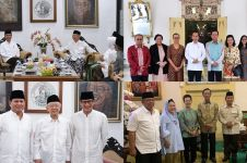 4 Beda gaya Jokowi dan Prabowo saat kunjungi tokoh penting