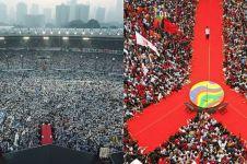 8 Potret udara keriuhan massa kampanye Jokowi vs Prabowo