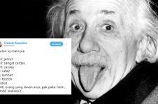 10 Cuitan lucu tingkatan IQ manusia ini bikin senyum nyengir