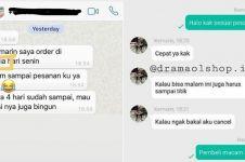 10 Chat pelanggan protes barang tak kunjung sampai ini bikin KZL