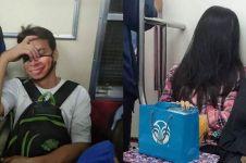 15 Potret lucu kelakuan penumpang saat naik kereta, posenya unik