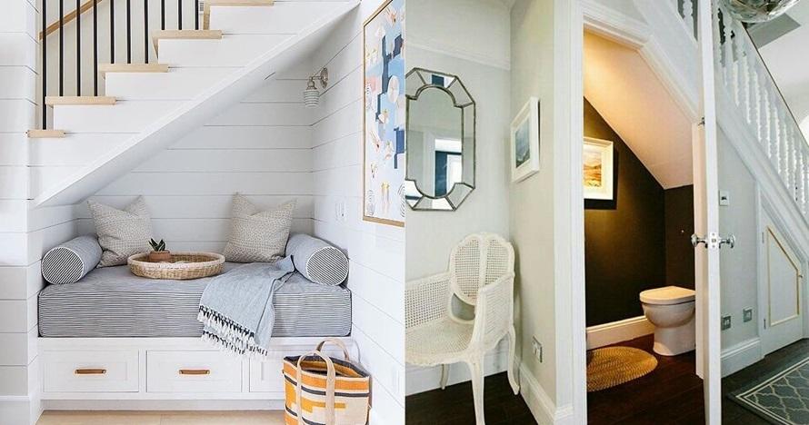 18 Desain ruangan bawah tangga, simpel dan cozy abis