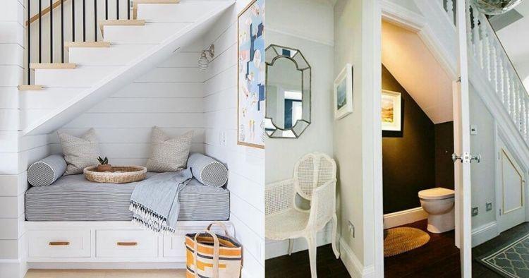 18 Desain ruangan bawah tangga simpel dan cozy abis