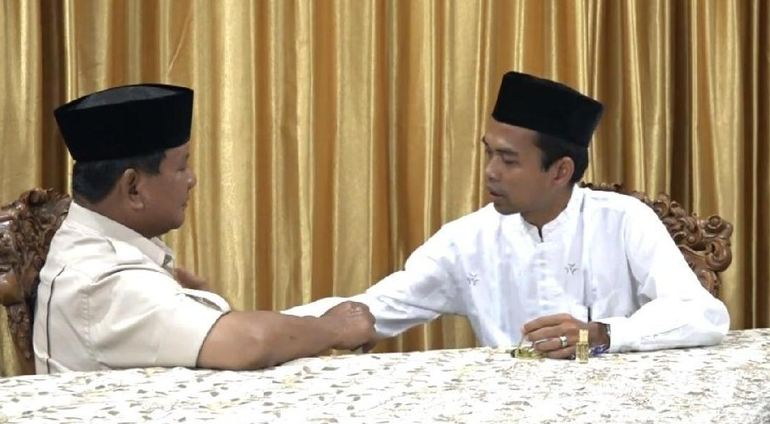 kisah uas dukung prabowo © YouTube/ LAROS BWI