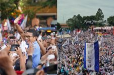 10 Potret udara keriuhan kampanye akbar Prabowo-Sandi di Tangerang