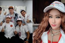 11 Gaya seleb ikut kampanye akbar Jokowi di GBK, serba putih