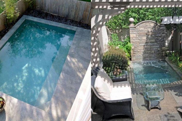 Desain Taman Dengan Barang Bekas  16 desain kolam renang ini cocok buat rumah berhalaman sempit
