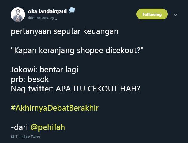 cuitan lucu debat berakhir © Twitter