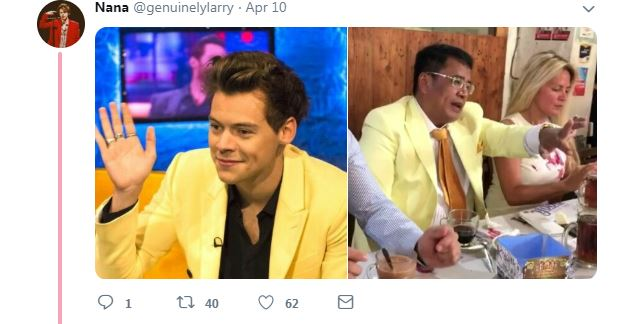 Busana Hotman Paris & Harry Styles   © 2019 brilio.net