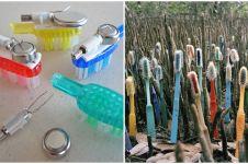 6 Karya seni ini manfaatkan limbah sikat gigi