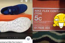 Beli di online shop, cowok ini dapat sepatu cuma muat di jempol