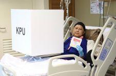 10 Momen Ani Yudhoyono nyoblos di Singapura, terbaring di atas ranjang