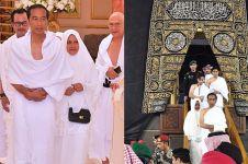 8 Momen Jokowi umrah di masa tenang kampanye, masuk dalam Kabah