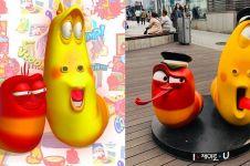 7 Potret karakter asli film kartun Larva, bikin bergidik geli