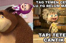 8 Meme lucu Masha and the Bear ini bikin tepuk jidat