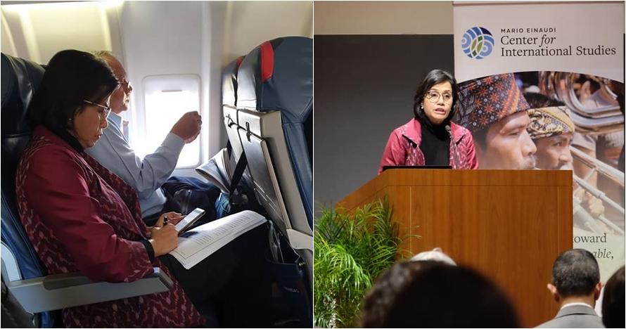 Sri Mulyani tuai simpati warganet saat naik pesawat, kenapa ya?