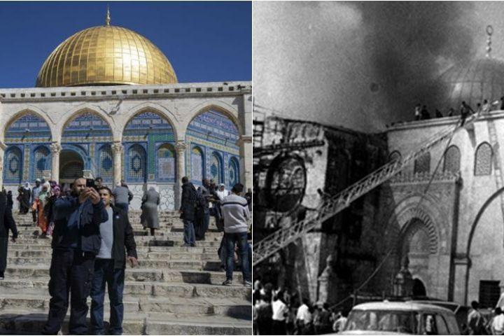 Masjid Al Aqsa ternyata pernah terbakar tahun 1969, ini kisahnya