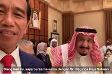 Ngevlog bareng Jokowi, ini pesan Raja Salman untuk Indonesia