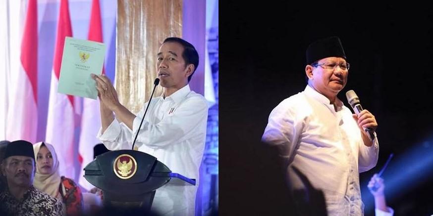 Suara 73,92%, quick count Charta Politika Jokowi 54,73% Prabowo 45,24%