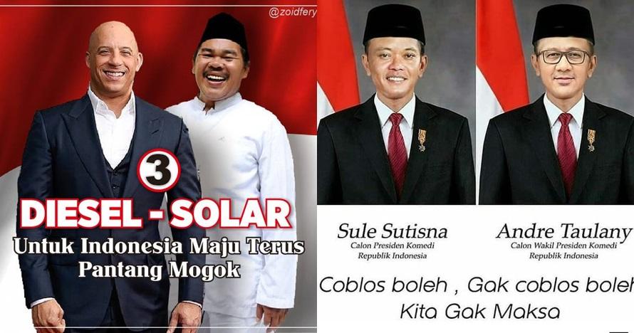 8 Editan poster capres-cawapres Indonesia ini bikin cekikikan